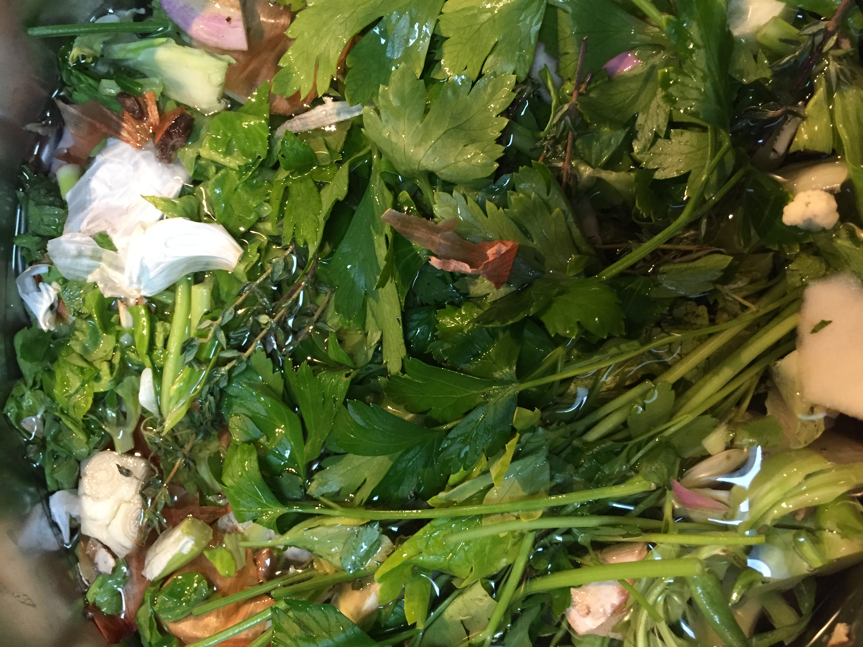 Vegetable Broth from Scraps